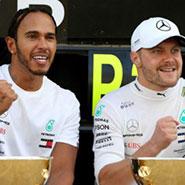 2019 F1 俄羅斯 世界一級方程式 賓士 Benz Lewis Hamilton #44 Valtteri Bottas #77