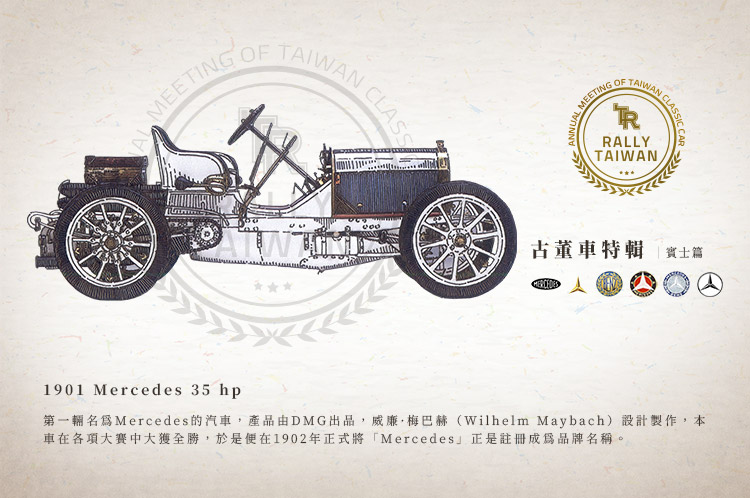古董車 賓士 Benz Mercededes Daimler 35hp